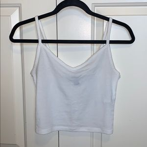White Forever 21 Cropped Tank